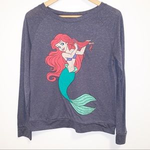 Disney | Little Mermaid Gray Long Sleeve Tee-Large